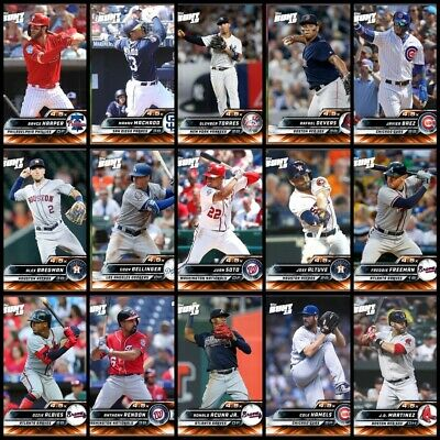 Topps Bunt 2019 Orange Base National League You Pick 4.5X Boost Digital Insert
