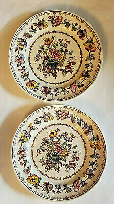 """Vintage Nabob By Mason's Salad Plate Set Of  2 Made In England 7 3/4"""""""
