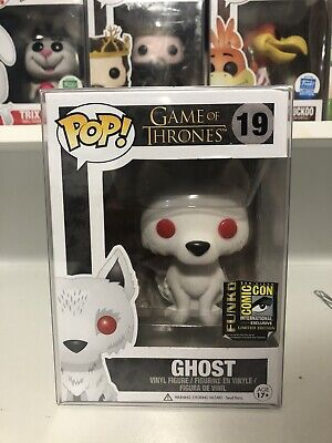 Funko POP GHOST FLOCKED SDCC 2014 Game of Thrones GOT #19