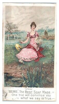 1891 Spring, Acme Best Soap Made Trade Card *VT19