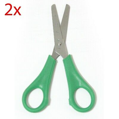 2x Educational Experience RIGHT HANDED Kids Scissors Stainless Steel Blunt Tips