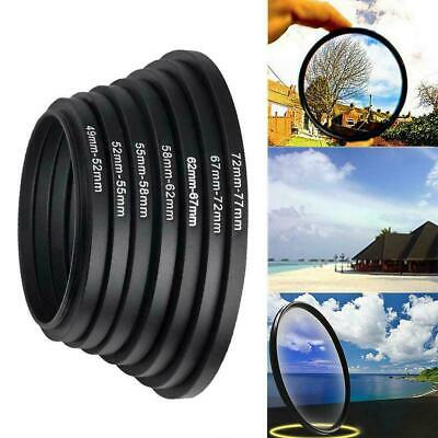 37-49 52-55 58-62 67-72 72-77 77-82mm Camera Lens Adapter Ring Step WJ Up F N9W8