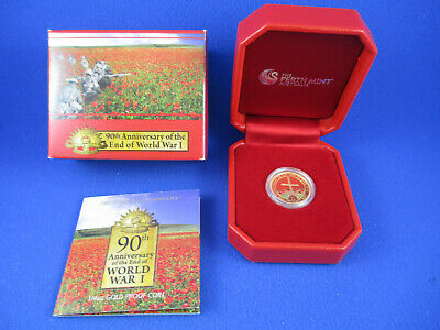 2008 - 90th Anniversary of the End of World War I - 1/4oz GOLD PROOF COIN -