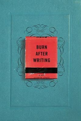 Burn After Writing by Sharon Jones Paperback Book NEW