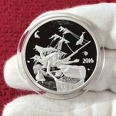 1 OZ .999 silver Proof Jeanne Hachette Tyrannicide Sovereign coin Girl Power