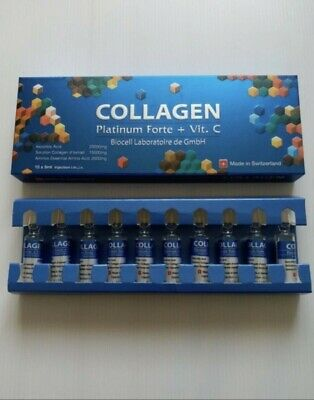 1 x Collagen Platinum Forte + Vit C BIOCELL Blue (Swiss) Free Tracking