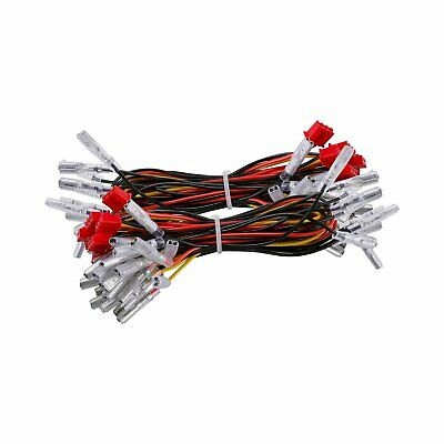 2.8mm Interface Wires to LED Push Button for Arcade Game DIY Machine,20 Piece