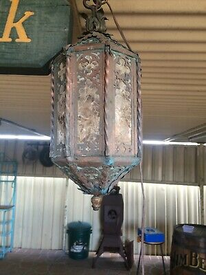 Antique Copper & Brass Electric Lamp. Fantastic Estate Item