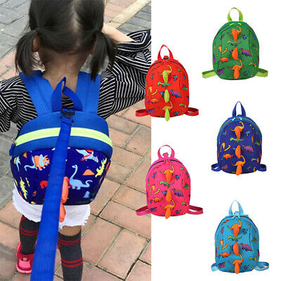 Cartoon Child Toddler Kid Dinosaur Safety Harness Strap Bag Backpack with Reins
