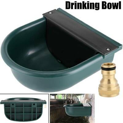 4 L Automatic Water Bowl Trough Horse Cow Drink Feeder Sheep Goat Brass Nozzle