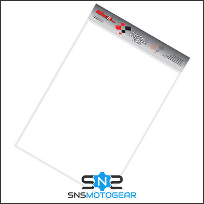 Motorcycle Motorbike Petrol Tank Cut Your Own Protector Sheet 45x33cm - White