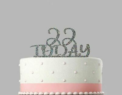 Birthday Acrylic Cake Decoration Any Age Today Personalised Glitter Topper.737
