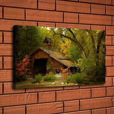 "Cabin In The Woods Home Decor Room HD Canvas Print Picture Wall Art 16""x26"""