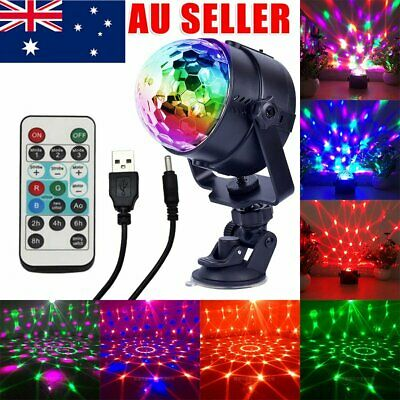 Disco Party DJ LED RGB Stage Effect Light Lamp Laser Crystal Magic Ball USB 5V