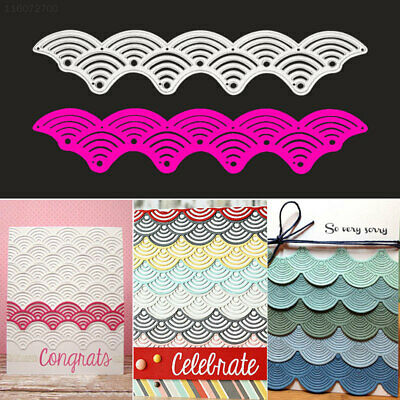 9E28 Wave Embossing Card Cutting Dies DIY Paper Crafts Kids Template Mold Album