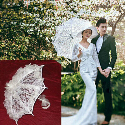 1583 Fashion Lace Vintage Girls Parasol Wedding Party Sun Umbrella Photography