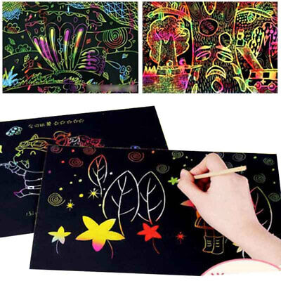 F799 Drawing Paper Papers Graffiti 10Pcs/Bag Black Scratch Painting Art Note