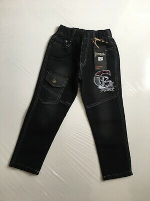 boys sports jeans, size 4 years, colour black