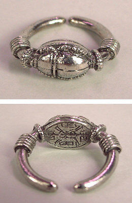 Egyptian Scarab Ring in Fine Pewter