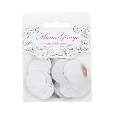 Maria George Sequins Large Round -Silver - 25mm