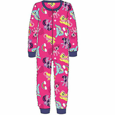 Official Licensed Girls My Little Pony Pink Fleece All In One Bodysuit Pyjamas
