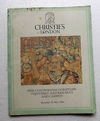 29-5-1986 Christies of London Catalog Fine continental Furniture Tapestries C425