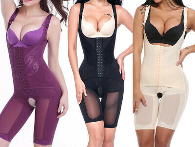 UK Women Full Body Shaper Corset Bodysuit Slimming Shapewear Waist Trainer Pants