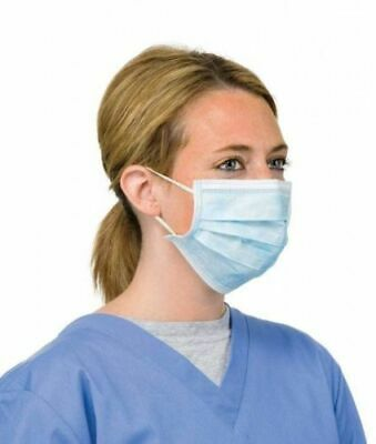 100 x Smog Flu Mask 3ply Surgical Earloop Dust  Face Salon Cleaning Medical