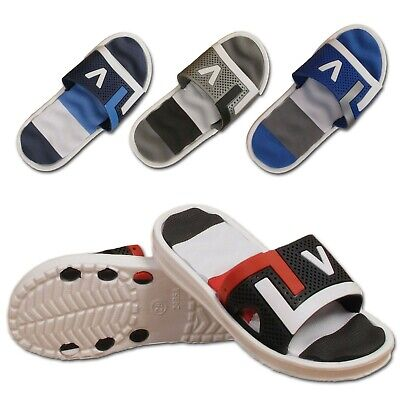 Boys Girls Childrens Kids Sliders Summer Sports Slip On Flip Flops Mules Sandals