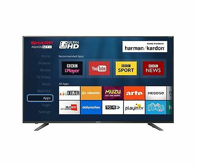 Sharp LC-60UI7652K 60-inch 4K UHD HDR Smart TV with Freeview HD, 3 x HDMI, ... .