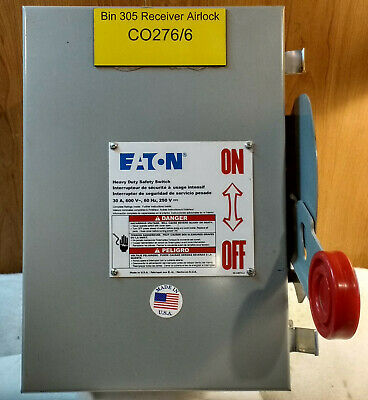 Eaton DH361UDK Safety Switch, 30A, 3 Pole