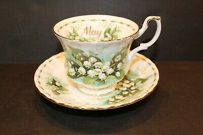 ROYAL ALBERT Flower Of The Month MAY Lily Of The Valley Cup and Saucer