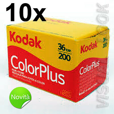 10 Pieces Film Roll Kodak Colour plus 36 Photo 200 Iso 35 mm Exp 2021