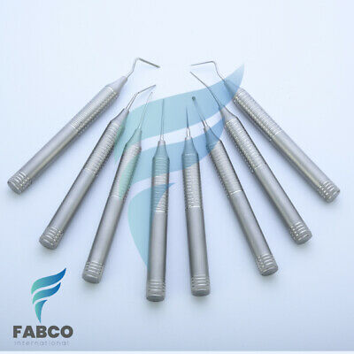 8Pcs Flexible Periotome Straight Curved for dental implant and tooth extraction