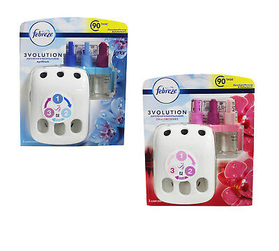 Febreze 3Volution Starter Kit Lenor Ambientador Enchufe Espray Aéreo Refesco
