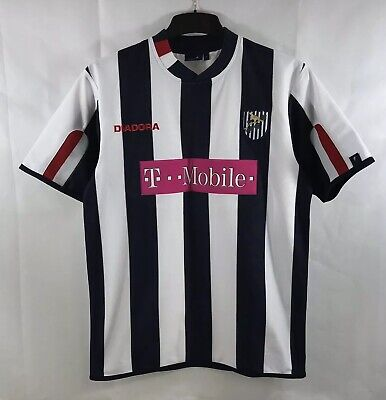 West Bromwich Albion Home Football Shirt 2004/05 Adults Small Diadora