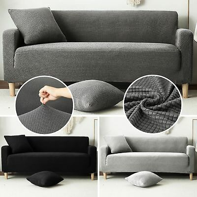 1/2/3 Seat Sofa Couch Slipcover Stretch Covers Elastic Fabric Settee Protector q