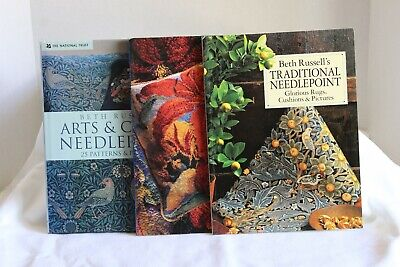 Beth Russell and Ehrman Designs Needlepoint Books