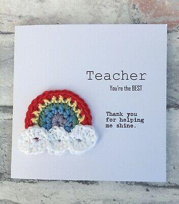 Personalised Thank You Teacher Card Best Teacher Gift Teaching Assistant Nursery