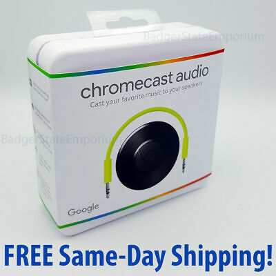 Google Chromecast Audio Media Streamer WiFi -> BRAND NEW Black GA3A00147-A14-Z01