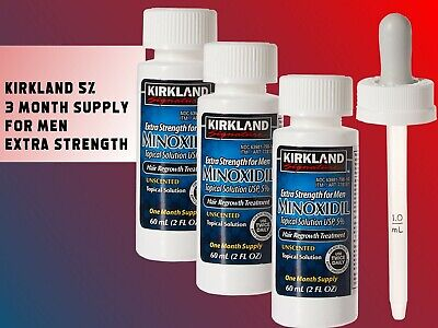 Kirkland Minoxidil Extra Strength Men's Hair Regrowth - 5% Solution - 1-6 Months