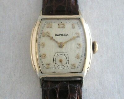 Hamilton Art Deco (1930's) 10K Gold Filled Mechanical Hand Winding Men's Watch