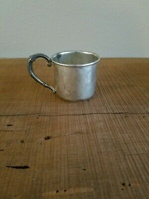 Vintage WEB Sterling Silver Baby Cup Pattern #53  No Monogram Perfect patina