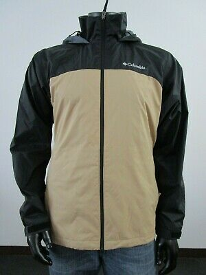 NWT Mens M Columbia Glennaker Lake Lined Hooded Waterproof Jacket Impulse Beach