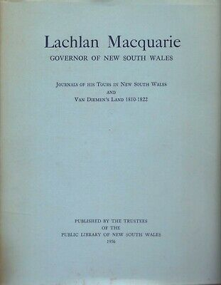 Lachlan Macquarie Governor of New South Wales Journals BOOK Australian History