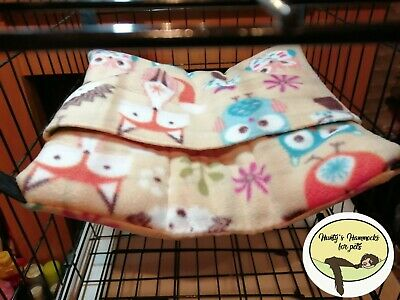 Cosy large Sleeping Bag/bed/pouch Hammock Ferret,rat,chinchilla,degu. Etc