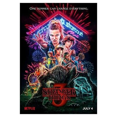 Stranger Things - Season 3 Canvas Poster Hanging Painting Home Wall Decor New