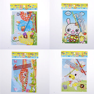 12 Pcs DIY Bling  Diamond Sticker Handmade Crysta Paste Painting Kids CraftsA!