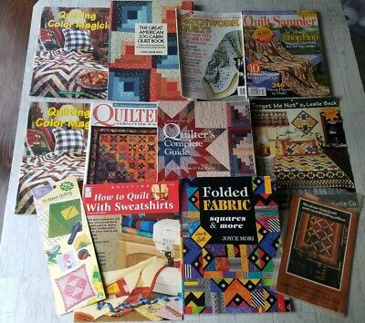 Vintage Quilting Quilt Books Booklets Leaflets Patterns Lot Of 11