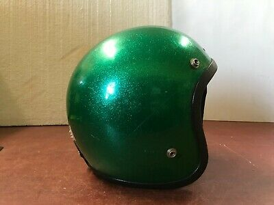 !!! Vintage Helmet Green Metal Flakes Size Small !!!